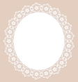 Lace pearl napkin vector image
