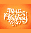 merry christmas handwritten lettering lettering vector image vector image