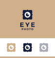 modern professional logo photos eyes on gold vector image vector image
