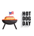 national hot dog day flat banner vector image