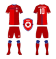 North Korea soccer kit football jersey template vector image vector image