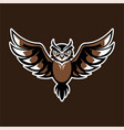 owl logo mascot bagde sport esport vector image vector image