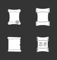 papyrus icon set grey vector image