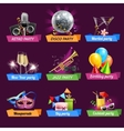Party Emblems Set vector image vector image