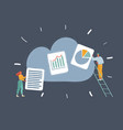 people save theirs files in cloud storage remote vector image