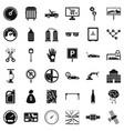 repair car repair icons set simple style vector image vector image