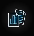 reports creative line icon on dark vector image vector image