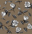 seamless pattern background with bridal flowers vector image vector image