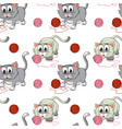 seamless pattern tile cartoon with kittens vector image