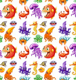 Seamless sea animals vector image vector image