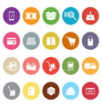 Shipment flat icons on white background vector image vector image