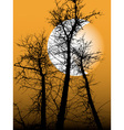 silhouette of the tree vector image vector image