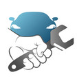 spanner in hand for car repair vector image