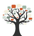 tree with speech bubbles vector image