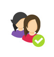 two people or person social group icon vector image vector image