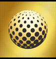 set abstract halftone 3d spheres 41 vector image