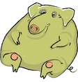 wild boar in thick green warts vector image