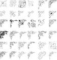 34 design elements vector image vector image