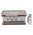 3d an espresso maker white background vector image vector image