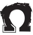 abstract omega symbol vector image vector image
