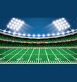 american football stadium arena vector image
