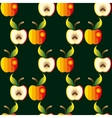 Apple background Textile red vector image vector image