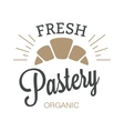 Bakery badge and bread logo icon modern style vector image vector image