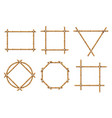 bamboo frames wood stick banners of various vector image vector image