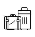 big suitcases line icon concept sign outline vector image vector image