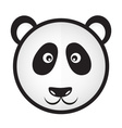 black and white panda bear head eps10 vector image