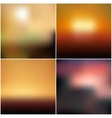 blurred hexagonal backgrounds set with sea vector image vector image