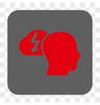 Brainstorming Rounded Square Button vector image