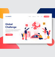 business global challenge concept vector image vector image