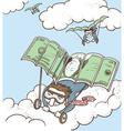 Businessmen fly vector image