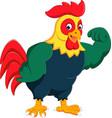cartoon chicken rooster posing vector image vector image