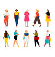 casual woman persons adults female characters vector image vector image