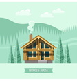 Chalet Wooden house Eco house vector image vector image