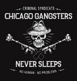 chicago gangsters skull vector image