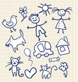 Childrens Scribbles Notebook vector image