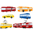 city public trasportation set vector image