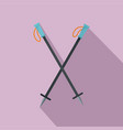 climb sticks icon flat style vector image vector image