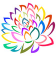 colorful flower artistic vector image vector image