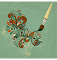 concept cartoon brush painting branch vector image vector image