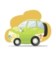 Cute car with the headlights in a cartoon style vector image vector image
