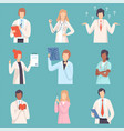 doctor and nurses set medical staff male and vector image vector image