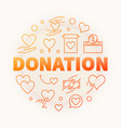 donation creative round outline vector image vector image