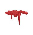 dripping blood flowing red liquid ink vector image