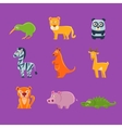 Exotic Animals Fauna Collection vector image