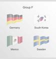 flag group f world football championship vector image