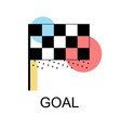 flag icon for goal concept design vector image